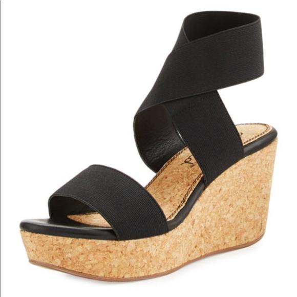 ddd38809b Splendid Shoes | Sz 8 Gavin Elastic Strap Wedge Sandal | Poshmark